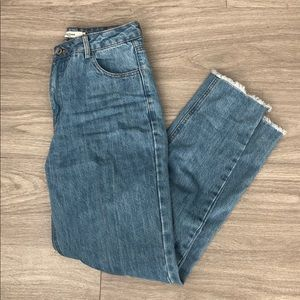 Brand NWT High-waisted Crop Mom Jeans